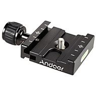 Andoer® QR-50 Quick Release Plate Clamp Adapter with Built-in Bubble Level for Arca Swiss RRS Wimberley