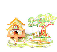 cheap -3D Puzzles Model Building Kit House Architecture DIY High Quality Paper Classic Unisex Gift