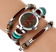 Women's Fashion Watch Wrist watch Bracelet Watch Unique Creative Watch Chinese Quartz Imitation Diamond Genuine Leather Band Vintage