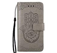Caso para apple iphone 7 7 mais carteira de suporte com suporte flip em relevo padrão caixa de corpo inteiro flor couro duro para 6 6 mais