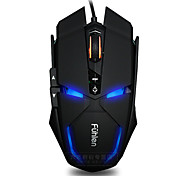 Fuhlen G300 7 keys 1600DPI USB Luminous Wired Game Mouse with 180cm Cable