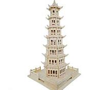Недорогие -3D пазлы Пазлы Модель дерева Наборы для моделирования Круглый Башня Знаменитое здание Лошадь Архитектура моделирование Дерево Натуральное