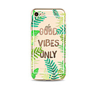cheap -Case For Apple iPhone X iPhone 8 Plus Transparent Pattern Back Cover Word / Phrase Tree Soft TPU for iPhone X iPhone 8 Plus iPhone 8
