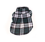 cheap -Dog Shirt / T-Shirt Dog Clothes Casual/Daily Plaid/Check Red Green Blue Costume For Pets