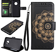 Case for Motorola Moto G4 Play G5 Plus The Mandala Pattern PU Leather Cases