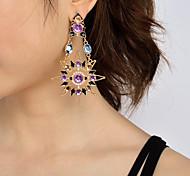 Mujer cuelga los pendientes Diseño Único Colgante Moda Personalizado Euramerican Joyería Destacada Perla Artificial Acrílico Sol Joyas