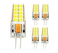 cheap -5pcs 3W 280lm G4 LED Bi-pin Lights T 20 LED Beads SMD 2835 Warm White Cold White 12V
