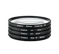 Andoer 62mm uv cpl close4 звездный 8-точечный фильтр круговой фильтр комплект круговой поляризатор фильтр макрос крупным планом звезда