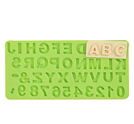 Недорогие -номер письмо силиконовая форма помада прессформа шоколад фимо глиняная форма цвет случайный