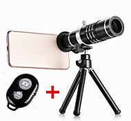 Universal Clip Telescope 18X Zoom Optical Phone Lens With Tripod and Bluetooth Remote Control For iPhone Samsung Cellphone