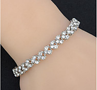 Fashion Full Diamond Chain Bracelet  For Daily 1 pc