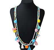 Жен. Ожерелья-бархатки Ожерелья с подвесками Ожерелья-цепочки Геометрической формы Материал Металлический сплав Резина Смешанные материалы