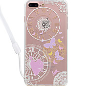 For Apple iPhone 7 7 Plus Case Cover Butterfly Pattern High Permeability Acrylic Backplane TPU Frame Painted Relief Phone Case For iPhone 6S 6 Plus