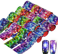 cheap -16pcs Starry Sky Shimmer Nail Foils Colorful Rain Flower Nail Art Transfer Sticker Decals DIY Beauty Decoration Nail Tools 20*4cm