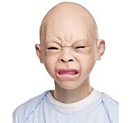 Недорогие -Хэллоуин латекс отвратительный счастливый плакат ребенок костюм маска Хэллоуин полный голова маска новый
