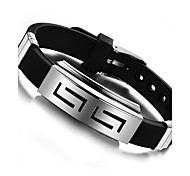 cheap -Bangles - Stainless Steel Fashion Bracelet Black For Party / Birthday / Party / Evening
