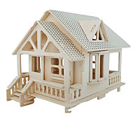 cheap -3D Puzzles Jigsaw Puzzle Wood Model Model Building Kit Famous buildings Furniture House Architecture 3D Simulation DIY Wood Classic Unisex