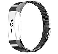 Fitbit alta accessori fascette cinturino in braccialetto in metallo con chiusura magnetica per fitbit alta hr-black
