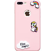 Для яблока iphone 7 7 плюс чехол крышка мультяшный узор плод цвет tpu материал diy телефон случай 6s 6 плюс se 5s 5