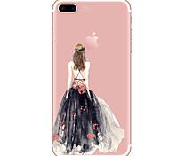 preiswerte -Hülle Für Apple iPhone X iPhone 8 iPhone 8 Plus Transparent Muster Rückseite Sexy Lady Weich TPU für iPhone X iPhone 8 Plus iPhone 8