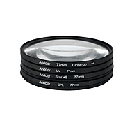 Andoer 77mm uv cpl close-up4 estrella filtro de 8 puntos filtro de filtro circular filtro de polarizador circular macro estrella de cerca