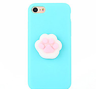 Недорогие -Кейс для Назначение Apple iPhone 7 Plus iPhone 7 болотистый Своими руками Кейс на заднюю панель Сплошной цвет 3D в мультяшном стиле Мягкий