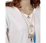 Жен. Ожерелья-бархатки Ожерелья с подвесками Заявление ожерелья Геометрической формы Металлический сплав РезинаКисточки Мода Богемия