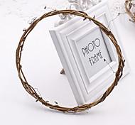 Недорогие -1шт натуральный увядший виноградной лозы обручальное кольцо diy гирлянда искусственные цветы