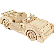 cheap -Toy Car 3D Puzzles Jigsaw Puzzle Wood Model Plane / Aircraft Car 3D DIY Wood Classic Boys' Unisex Gift