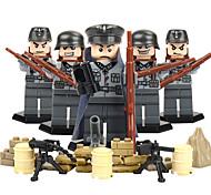 Недорогие -Конструкторы Фигурки из блоков Обучающая игрушка Игрушки Воин Eagle Армия Не указано Куски