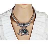Women's Statement Necklaces Geometric Animal Shape Chrome Unique Design Animal Design Circle Fashion Bohemian Personalized Euramerican