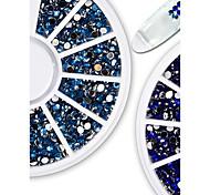 Недорогие -1 Украшения для ногтей Компоненты для самостоятельного изготовления 3-D блестит Хрусталь Роскошь Украшенный драгоценностями Мода Новое