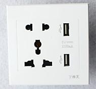 Недорогие -тип 86 usb * 2 розетки 2 бит 3 бит белый высококачественный осветительный аксессуар