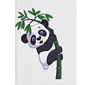Étui pour ipad mini 1 2 3 mini 4 housse de couverture panda pattern pu matériel trois fois plat ecossais téléphone casier