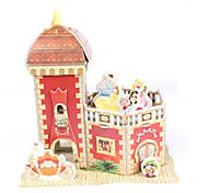 cheap -3D Puzzles Jigsaw Puzzle Paper Model Model Building Kit Castle House Architecture 3D DIY Party High Quality Paper Classic Boys' Unisex