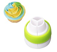 1Pc 3-Color Icing Piping Bag Russian Nozzle Converter Coupler Cake Cream Pastry Bag Nozzle Adapter Fondant Baking Decor Tool
