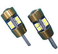 10w lente design t10 can-bus led bulbo cor branca (2pcs)