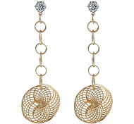 Women's Oversize Drop Earrings Dangling Style Alloy Circle Jewelry For Party Event/Party