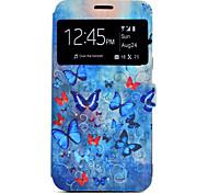 Funda Para Samsung Galaxy J7 (2016) J5 (2016) Soporte de Coche con Soporte Diseños Cuerpo Entero Mariposa Dura Cuero Sintético para J7