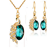 cheap -Women's Synthetic Diamond / Synthetic Emerald Gold Plated Jewelry Set - Fashion Animal Red / Green / Blue Bridal Jewelry Sets For Event /