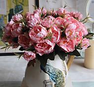 Недорогие -1 ветка разноцветные пластиковые пионы настольный цветок искусственные цветы