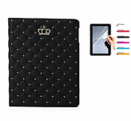 abordables -Funda Para Apple iPad Mini 4 Mini iPad 3/2/1 iPad 4/3/2 iPad Air 2 iPad Air con Soporte Funda de Cuerpo Entero Color sólido Dura Cuero de