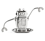 Недорогие -1pc робот формы чайные пакетики из нержавеющей стали металлические текстуры чай infuser