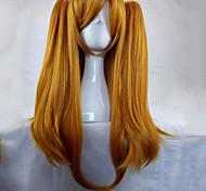 Недорогие -Парики из искусственных волос Прямой С конским хвостом плотность Без шапочки-основы Жен. Блондинка Парики для косплей Длинные