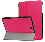cheap -Case For Samsung Galaxy Full Body Cases Tablet Cases Solid Solid Color Hard PU Leather for Tab S3 9.7