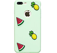 Для яблока iphone 7 7 плюс чехол крышка арбуз ананас узор плод цвет tpu материал diy телефон футляр 6s 6 плюс se 5s 5