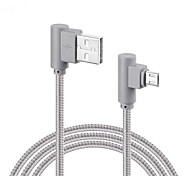 cheap -Micro USB USB Cable Adapter Braided Quick Charge Cable For Samsung Huawei LG Lenovo Xiaomi Sony 100 cm Nylon
