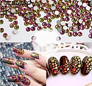 Best Rhinestones ss3-ss16 Crystal Rainbow decorations for 3d Nail Art Flat Back Non Hotfix Glue on 3d Nail Art or diy bead