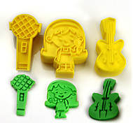 cheap -2017 New Arrival Set of 3 Guitar Microphone Music Symbols Cake Molds Music Party Cookie/Biscuit Cutter Fondant Cake Decorating Tools