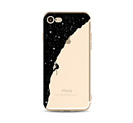 cheap -Case For Apple iPhone X iPhone 8 Plus Transparent Pattern Back Cover sky Cartoon Soft TPU for iPhone X iPhone 8 Plus iPhone 8 iPhone 7